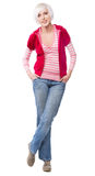 Beautiful lady in warm clothes Royalty Free Stock Images