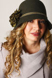Beautiful Lady Wearing Hat Royalty Free Stock Photo