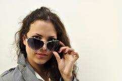 Beautiful lady wearing sunglasses Stock Image