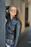 Beautiful lady wearing sunglasses Stock Image