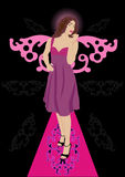 Beautiful lady with wings Stock Photography