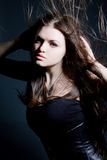 Beautiful Lady With Long Brown Hair Royalty Free Stock Photos