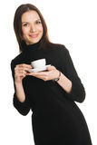 Beautiful lady witha cup of coffee Stock Photography
