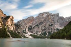 Beautiful Lago di Braies 免版税库存照片
