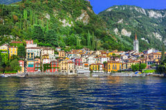 Beautiful  Lago di Como - pictorial Varenna vilage Stock Photography
