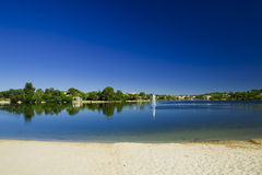 Beautiful lagoon Stock Photography