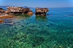 Beautiful lagoon. Beautiful blue lagoon  Crete Greece Stock Photography