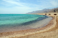 Beautiful lagoon. Landscape of the beach on beautiful lagoon Stock Photography