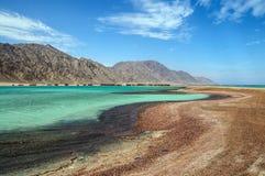 Beautiful lagoon. Landscape of the beach on beautiful lagoon Royalty Free Stock Photo