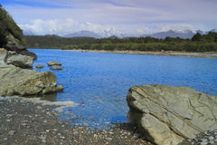 Beautiful lagoon. In Westland Tai Poutini National Park, South Island, New Zealand Stock Photos