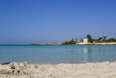 Beautiful lagoon beach on Cyprus island near Ayia Napa Royalty Free Stock Photos