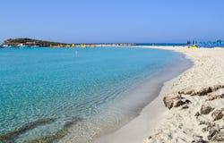 Beautiful lagoon beach on Cyprus island near Ayia Napa Royalty Free Stock Images