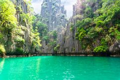 Beautiful lagoon Stock Image