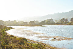 Beautiful Lagoon in Malibu at sunset. Malibu Lagoon State Beach Stock Photography