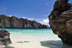 Beautiful lagoon near El Nido - Palawan, Philippines Royalty Free Stock Photography