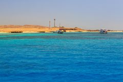 Lagoon of the Red Sea at Mahmya island. Beautiful lagoon of the Red Sea, Egypt Royalty Free Stock Photo