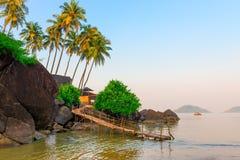 Beautiful lagoon in the tropics Stock Photo