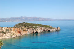 Beautiful lagoon and turquoise Aegean Sea Royalty Free Stock Photo