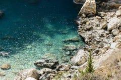 Beautiful lagoon with turquoise sea stock photography