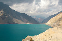 Beautiful Laguna Negra in canyon Maipo Stock Image