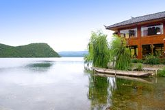 Beautiful Lake. China Lijiang, the beautiful lake Stock Images