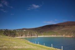 Beautiful Lake. Mountainous landscape with a beautiful lake in Donegal, Ireland stock photo