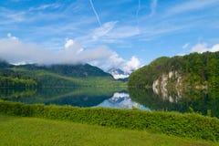 Beautiful lake. In Alps, Alpsee, Bavaria, Germany Stock Photos