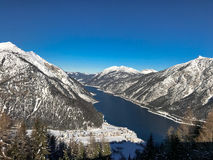Beautiful lake Achensee in winter, Austria Alps in Tyrol, Austria Stock Photo