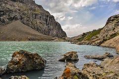 Beautiful lake Alakul. In mountains Royalty Free Stock Photos