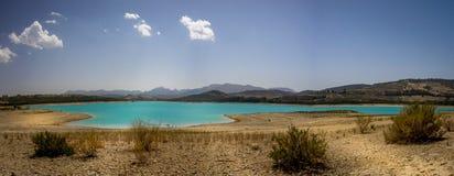 Beautiful lake at Alhama de Granada, Spain Stock Photo