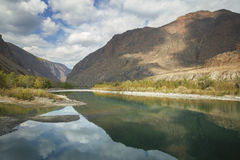 Beautiful lake in Altai mountains Stock Images