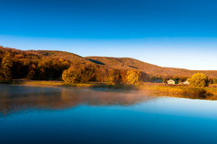 Beautiful lake and amazing forest. Fall Royalty Free Stock Photos