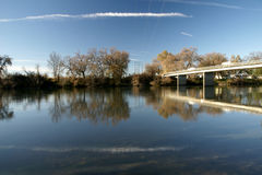 Beautiful lake in Ash Creek, California, USA Stock Images
