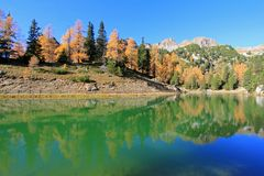 Beautiful Lake during Autumn season in Austria Stock Photos
