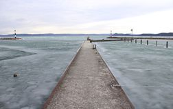 Beautiful Lake Balaton royalty free stock photography