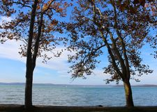 Beautiful Lake Balaton royalty free stock photos