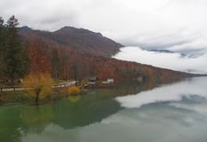 Beautiful Lake Bohinj stock image
