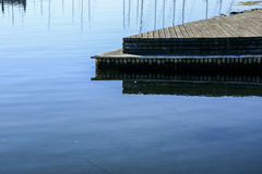 Beautiful lake and bridge Royalty Free Stock Photography