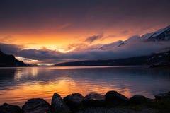 Beautiful Lake Brienz At Sunset  Switzerland Royalty Free Stock Image