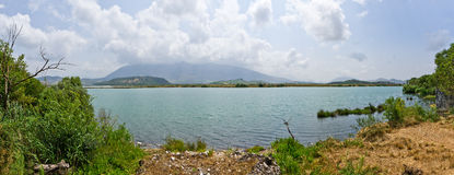 Beautiful lake in Butrint, Albania Stock Photo