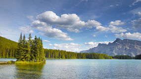Beautiful lake in Canadian Mountains Stock Image