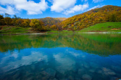 Beautiful lake with clear water in the mountains, Royalty Free Stock Photos