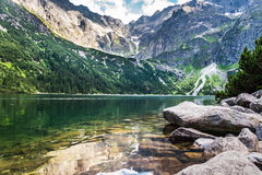 Beautiful lake with clear water in the mountains Royalty Free Stock Image