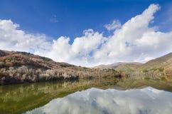Beautiful Lake and Clouds reflection, wide angle shoot Stock Photo