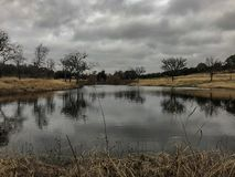 Beautiful lake in a cloudy day royalty free stock photo