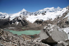 Beautiful lake in Cordilleras Royalty Free Stock Image