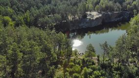 The beautiful scenery of the canyon, aerial view