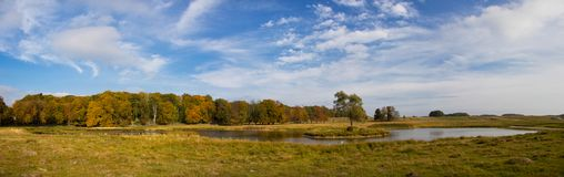 Beautiful lake in Dyrehave park, Denmark Royalty Free Stock Photography