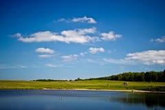 Beautiful lake in Dyrehave park, Denmark Stock Photo