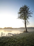 Beautiful lake in early morning Royalty Free Stock Photos